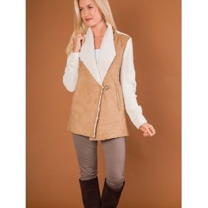 New Simply Noelle Sherpa/Suede Sweater